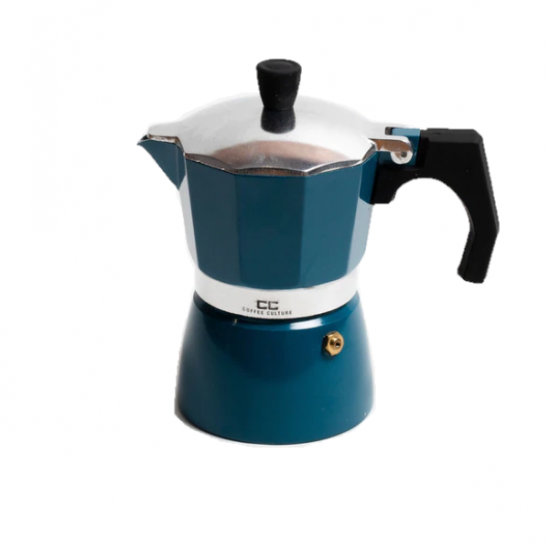 Blue Coffee Maker 3 cup