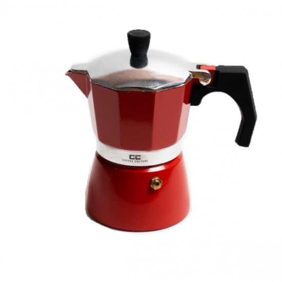 Red Coffee Maker 3 cup