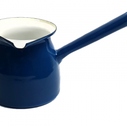 Enamel Blue Turkish Coffee Pot - 850ml