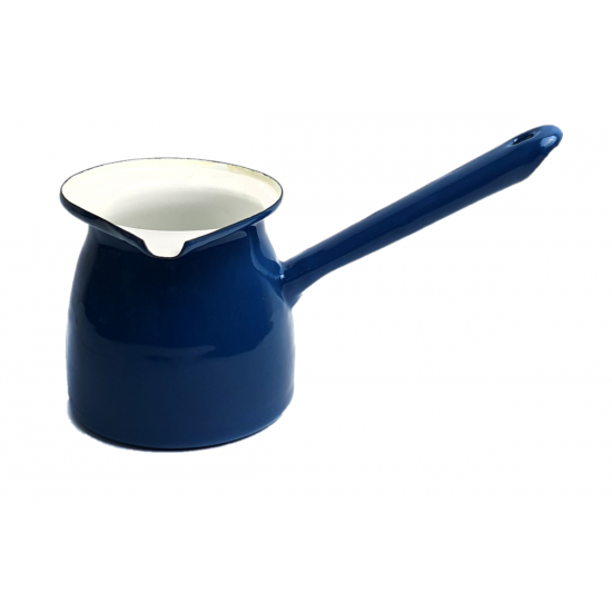 Enamel Blue Turkish Coffee Pot - 850ml
