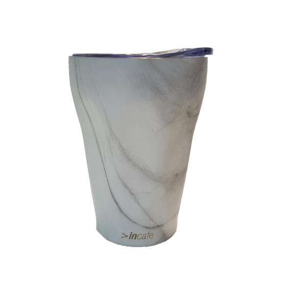 Reusable Coffee Cup - White Marble