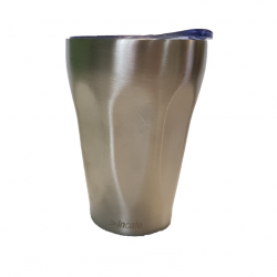Reusable Coffee Cup - Brushed Stainless Steel